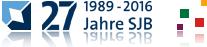 27 Jahre SJB. Primär- und Sekundärlogo.